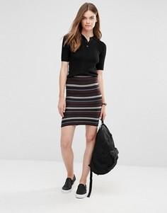 Комбинируемая узкая юбка в полоску Only - Мульти