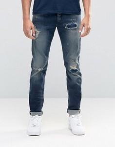 Рваные джинсы слим Jack & Jones - Черный