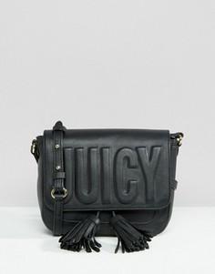 Черная сумка через плечо с тиснением Juicy Couture - Черный