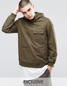 Саржевая куртка через голову Underated - Зеленый