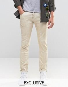 Зауженные джинсы с брызгами краски Heros Heroine - Stone
