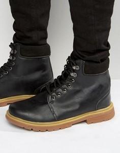 Черные кожаные ботинки Bellfield Heritage - Черный