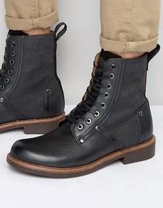 Кожаные ботинки на шнуровке G-Star Labour - Черный