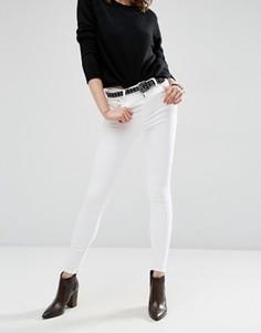 Белые джинсы скинни с завышенной талией ASOS Ridley - Белый