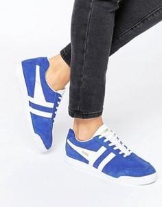 Классические синие кроссовки Gola Harrier - Синий