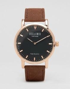 Часы с замшевым светло-коричневым ремешком Reclaimed Vintage - Рыжий