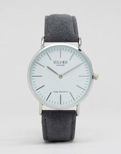 Часы с серым шерстяным ремешком Reclaimed Vintage - Серый