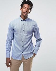 Рубашка слим с длинными рукавами Selected - Черный