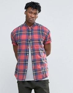 Oversize-рубашка в клетку ASOS - Красный