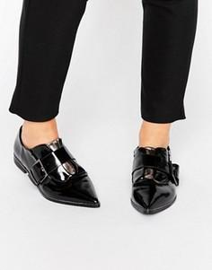 Туфли на плоской подошве с острым носком ASOS MAGPIE - Черный