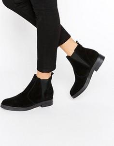 Замшевые ботинки челси Pieces Ambra - Черный