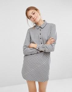 Платье-рубашка из ткани шамбре People Tree - Серый
