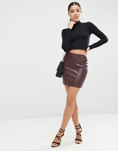 e20a847305a Купить женские короткие мини юбки кожаные в интернет-магазине ...
