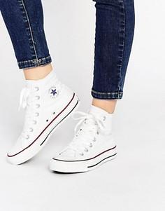 Высокие белые кроссовки Converse All Star - Белый