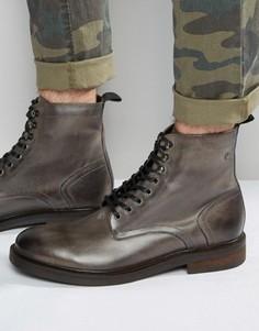 Кожаные ботинки со шнуровкой Base London Track - Серый