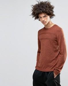 Джемпер из мериносовой шерсти с фактурной строчкой ASOS - Оранжевый
