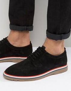 Черные замшевые туфли на шнуровке ASOS - Черный