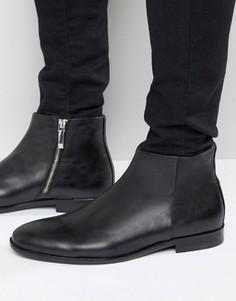 Кожаные ботинки на молнии ALDO Pannone - Черный