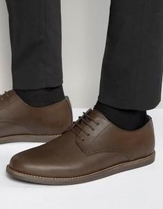 Коричневые кожаные туфли на шнуровке Frank Wright Trinder - Коричневый