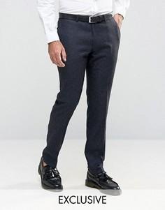 Супероблегающие брюки строго кроя в крапинку Noose & Monkey - Темно-синий
