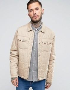 Стеганая хлопковая куртка песочного цвета ASOS - Stone