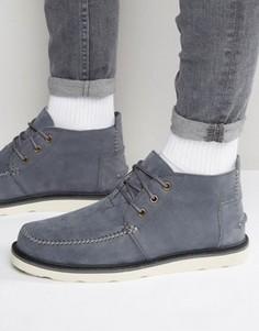 Ботинки чукка из нубука TOMS - Серый