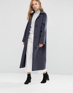 Темно-синее легкое пальто свободного кроя Cooper & Stollbrand - Темно-синий