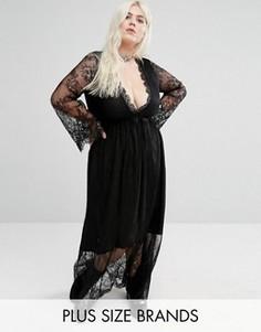 Кружевное платье макси Alice & You - Черный