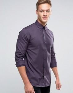 Строгая рубашка в клетку Selected Homme - Темно-синий