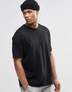 Черная oversize-футболка ASOS - Черный