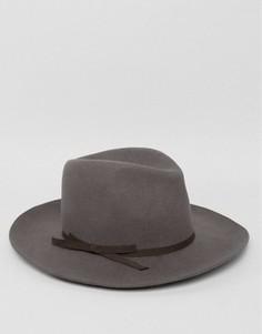Фетровая шляпа Brixton York - Серый