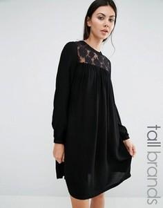 Платье с кружевной вставкой Brave Soul Tall - Черный