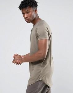Удлиненная футболка Other UK - Серый