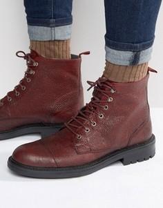Кожаные ботинки на шнуровке Walk London Liverpool - Красный