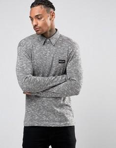 Трикотажная футболка-поло с длинными рукавами Nicce London - Серый
