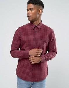 Темно-синяя/красная поплиновая рубашка классического кроя в клеточку Jack Wills - Темно-синий