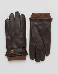 Коричневые кожаные перчатки Dents Penrith - Коричневый
