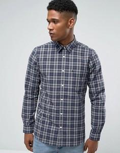 Поплиновая клетчатая рубашка классического кроя (темно-синий/серый) Jack Wills - Темно-синий