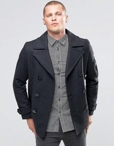 Шерстяное пальто Diesel W-Samico DB - Серый