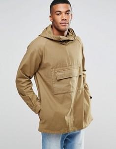 Рубашка навыпуск с воротником-стойкой ASOS - Зеленый