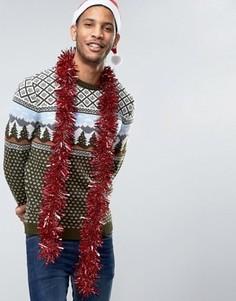 Джемпер с винтажным дизайном ASOS Christmas - Зеленый
