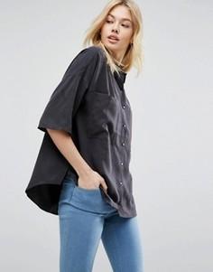 Повседневная рубашка из лиоцелла ASOS Premium - Серый