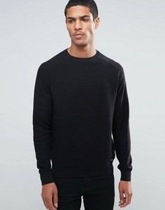 Джемпер в рубчик Threadbare - Черный