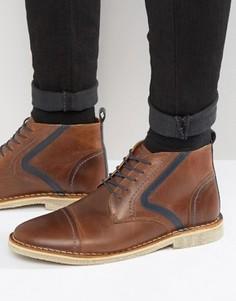 Коричневые кожаные ботинки ASOS - Коричневый