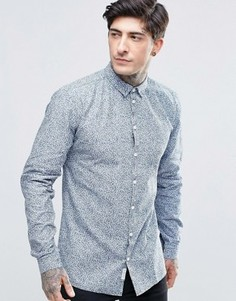 Рубашка с узором Minimum - Синий