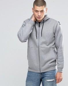 Серое худи на молнии adidas Originals EQT AY9229 - Серый