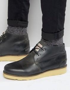 Черные кожаные ботинки чукка Original Penguin - Черный