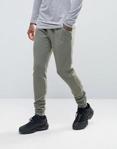 Зауженные спортивные штаны SikSilk - Зеленый