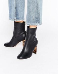 Полусапожки на контрастном каблуке Miss Selfridge - Черный