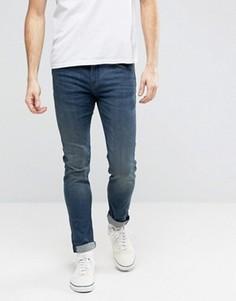 Зауженные джинсы с выцветшим эффектом Cheap Monday 1Yr - Синий